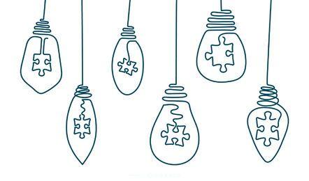 Pacote de lâmpada de curso de desenho de mão
