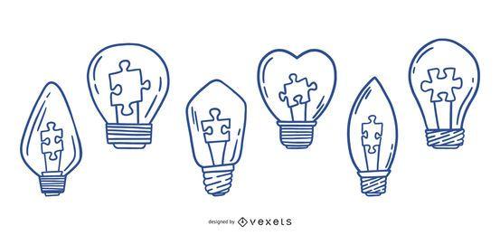Pacote de design de lâmpada para autismo para AVC