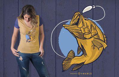 Diseño de camiseta Black Bass