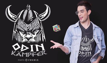 Diseño de camiseta alemana Odin Fighter