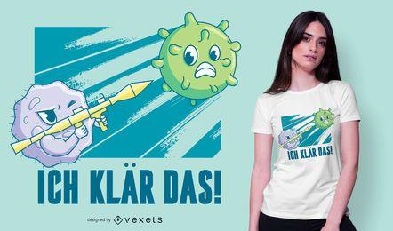 Design alemão do t-shirt das citações de Coronavirus