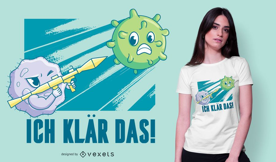Diseño de camiseta de cita alemana de coronavirus