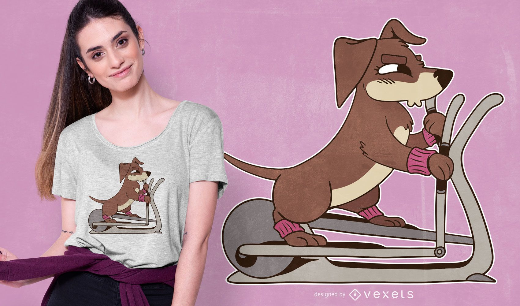 Elliptical Dog T-shirt Design