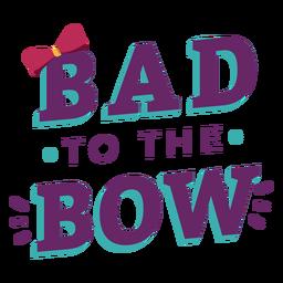 Cheerleader bow lettering