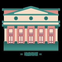 Edificio banco ilustración plana