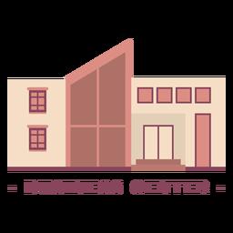 Edificio centro de negocios ilustración plana