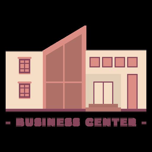 Building business center flat illustration