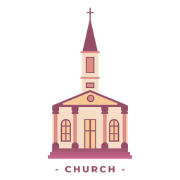 Building church flat illustration