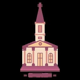 Edificio iglesia ilustración plana