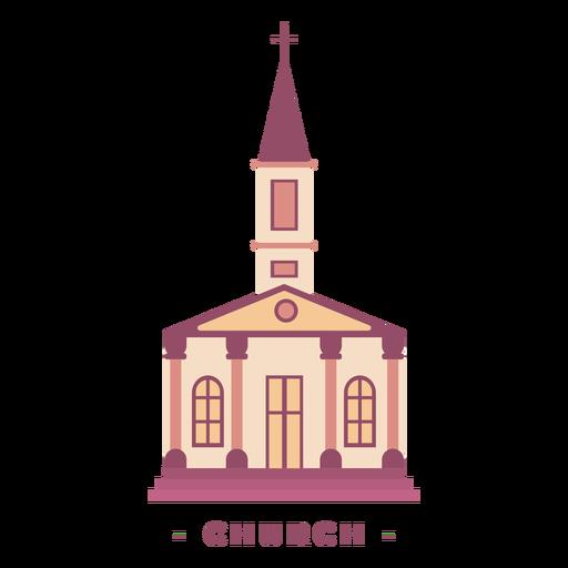 Building church flat illustration Transparent PNG