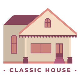 Building classic house flat illustration