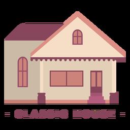 Ilustração plana de construção de casa clássica