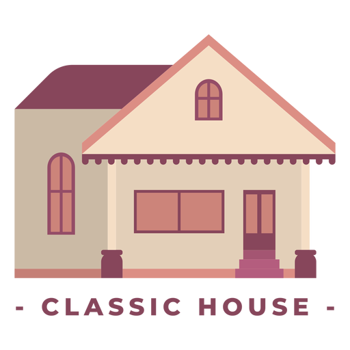 Building classic house flat illustration Transparent PNG