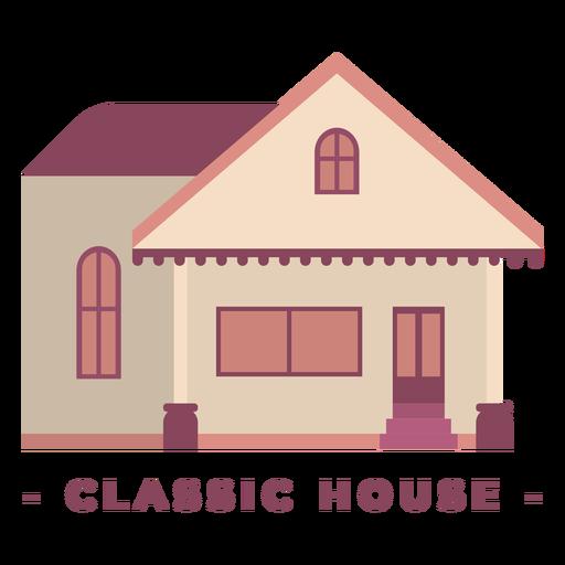 Construcción de casa clásica ilustración plana