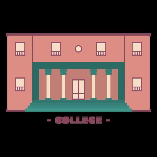 Building college flat illustration Transparent PNG