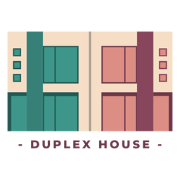 Building duplex house flat illustration