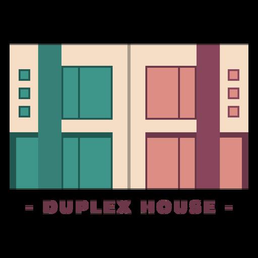 Building duplex house flat illustration Transparent PNG
