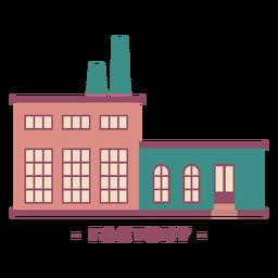 Building factory flat illustration