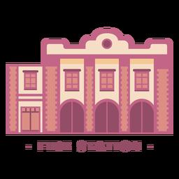 Edificio de la estación de bomberos ilustración plana