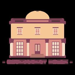 Edifício casa governo ilustração plana
