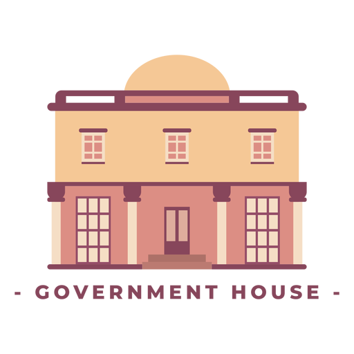Building government house flat illustration Transparent PNG