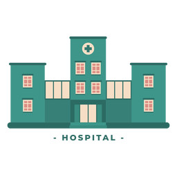 Building hospital flat illustration