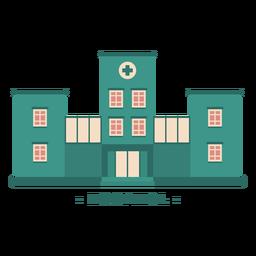 Ilustração plana do edifício hospital