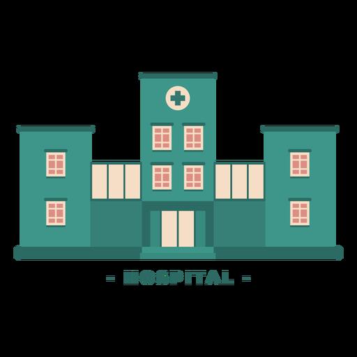 Building hospital flat illustration