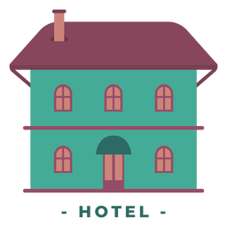Edificio hotel ilustración plana