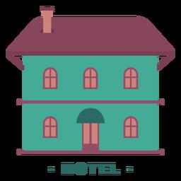 Edificio ilustración plana hotel