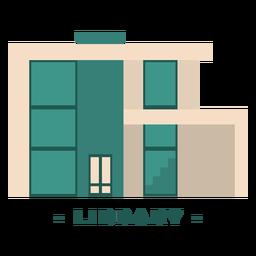 Building library flat illustration