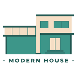 Construção de casa moderna ilustração plana
