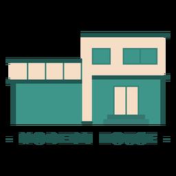 Edificio plano casa moderna ilustración