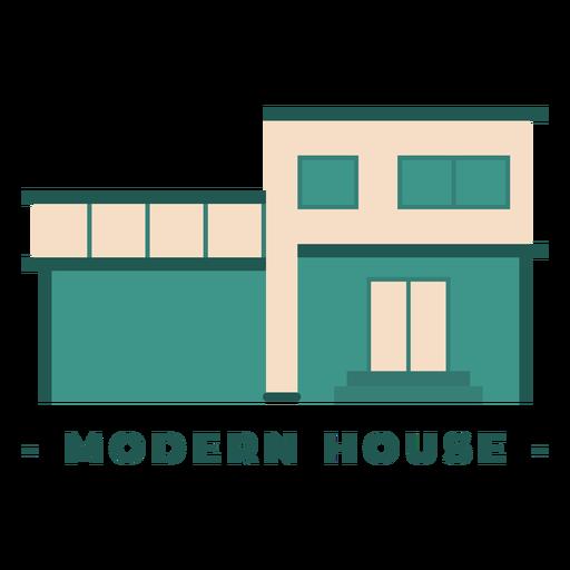 Building modern house flat illustration Transparent PNG