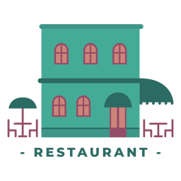 Edifício ilustração plana de restaurante