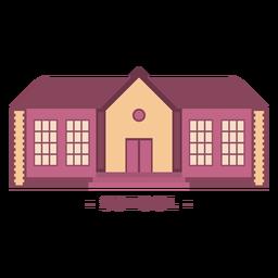Building school flat illustration