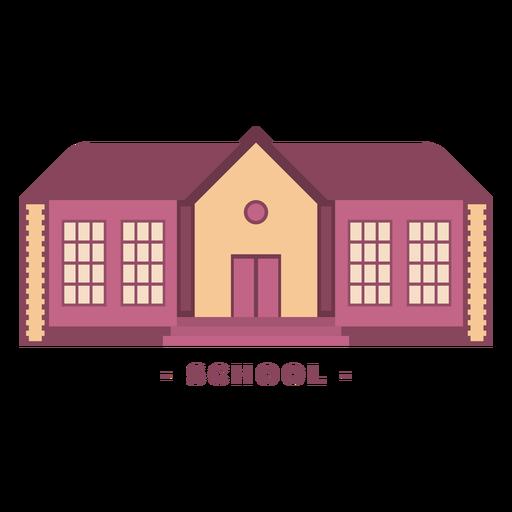 Ilustración plana de la escuela de construcción