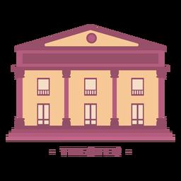 Edifício ilustração plana de teatro