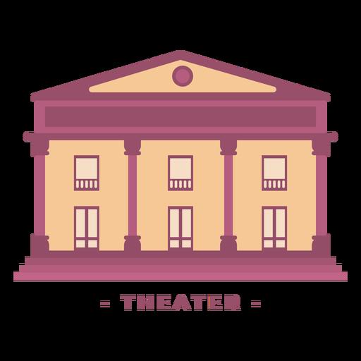 Ilustração plana do edifício do teatro