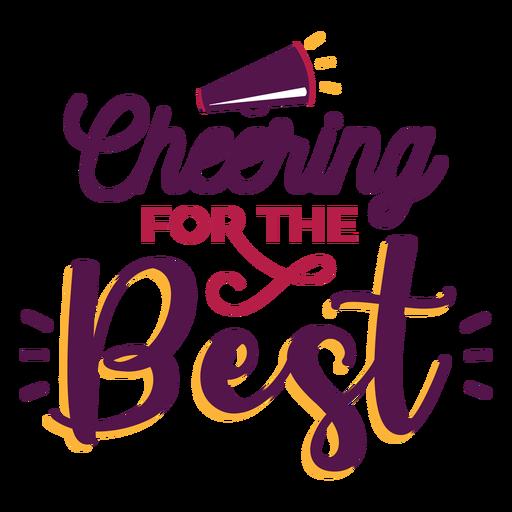Cheer best lettering Transparent PNG