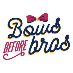 Cheer bows lettering