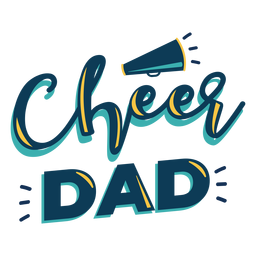 Cheer dad lettering