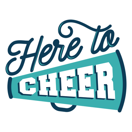 Cheer here lettering