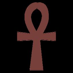 Silhueta de ankh do símbolo egípcio