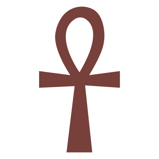 Egyptian symbol ankh silhouette