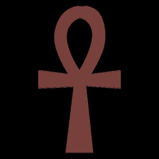 Símbolo egipcio ankh silueta