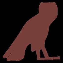 Egyptian symbol ba silhouette