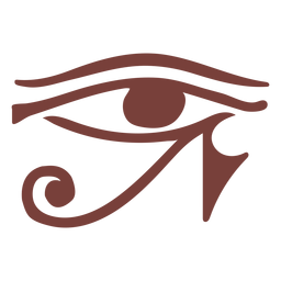 Egyptian symbol eye of ra silhouette