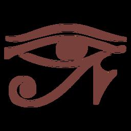 Olho do símbolo egípcio da silhueta de ra