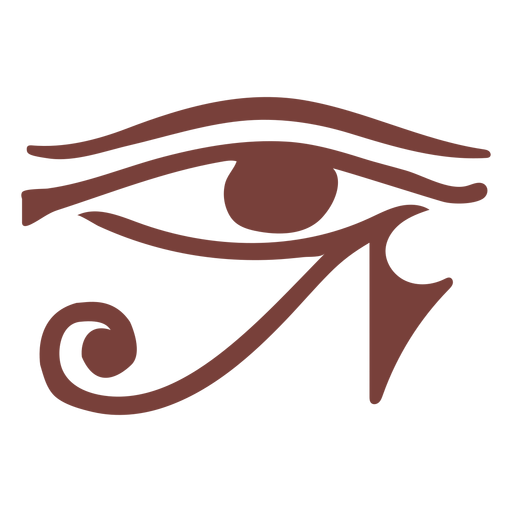 Egyptian symbol eye of ra silhouette Transparent PNG
